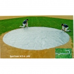 Field Saver Infield Base Covers 6 Oz. Woven Silver/White Poly Fabric