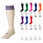 TCK Finale Trio 3 Stripe Heel/Toe Over The Calf Field Hockey/Soccer Socks