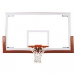 "First Team FT234 42"" X 72"" Competition Tempered Glass Basketball Backboard"