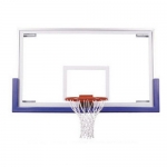 "First Team FT235 42"" X 72"" Official Tempered Glass Basketball Backboard"