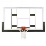 "First Team FT239 42"" X 72"" Tempered Glass Basketball Backboard"