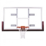 "First Team Competition FT240 42"" X 72"" Tempered Glass Basketball Backboard 