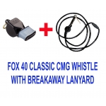 Fox 40 Classic CMG Whistle With Breakaway Lanyard Included Color Black