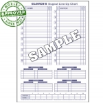 Glovers Baseball Dugout Line Up Charts Pack Of 30