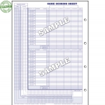 Glovers Basketball Score Sheets (Each)