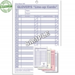 Glovers Line Up Cards (Each)