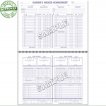 Glovers Short Form Soccer Scorebook (Each)