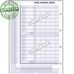 Glovers Short Form Wrestling Scorebook (Each)