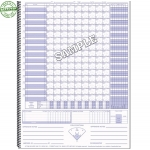 Glovers Spiral Baseball Scorebook (Each)
