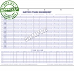 Glovers Track And Field Score Sheets (Each)