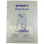 Glovers Wrestling Score Sheets With Stats (Each)