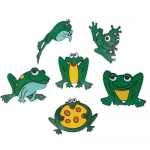 Green Poly Frogs (Set Of 6)