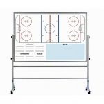 Ice Hockey Dry Erase Board On Wheels - USA Made! [Free Accessories Included]