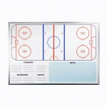 Ice Hockey Premier Wall Mounted Magnetic Coaching Board - USA Made! [Free Accessories Included]