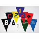 Individually Applied Letters To MA18326 Back Stroke Flags 1 Side Only 1 Color (Each)