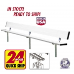Inground Aluminum Bench With Backrest