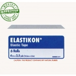 "J&J ELASTIKON® ELASTIC TAPE 4"" X 5 YARDS SPEED PACK 6 ROLLS PER BOX"