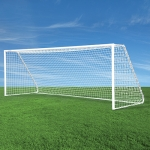 Jaypro Classic Club Round Soccer Goals - Includes Nets, Net Clips and Sand Bags [RECOMMENDED FOR SOCCER CLUBS]