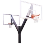 Jaypro Playground Basketball Pole With Double Acrylic Backboards.