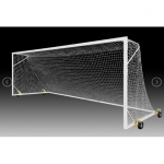 Kwik Goal 2B3706SW FUSION High School Match Soccer Goal with Swivel Wheels