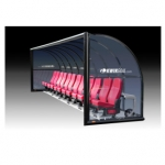 Kwik Goal Elite Custom Shelter - Semi Permanent With Luxury Seats