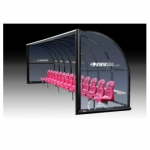 Kwik Goal Elite Custom Shelters- Semi Permanent With Molded Seats