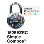 "Master Lock Simple Combination Locks 3/4"" Shackles"