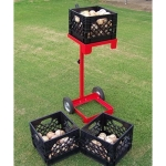 MuhlTech Baseball Softball Crate Mate Equipment And Ball Carrier With 3 Crates