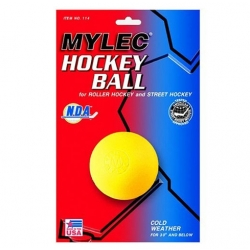 Mylec Yellow Cold Weather Hockey Ball Each