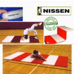 "Nissen Envirosafe Folding Tumbling Mat 1 1/2"" Thick With Velcro On All Sides - 2' Folds"