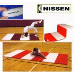 "Nissen Envirosafe Extra Firm Tumbling Mat 1 3/8"" Thick With Velcro On Ends- 2' Folds"