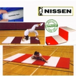 "Nissen Envirosafe Folding Tumbling Mat 2 1/2"" Thick With Velcro On All Sides"