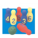 NUMBERED FOAM BOWLING SET