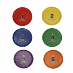 NUMBERED PVC DISCS SET OF 6