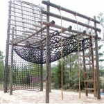 OC Series Outdoor Cargo Climbing Net Black or Tan (Per Sq. Ft.)