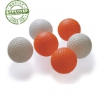 ORANGE HOLLOW PLASTIC GOLF BALL SIZE TRAINING BALLS