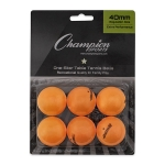 Orange Rhino 1 Star Table Tennis Balls (Pack of 6)