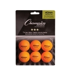 Orange Rhino 3 Star Table Tennis Balls (Pack of 6)