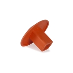 Orange Rubber Molded Base Plugs Each