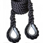 "Outdoor 1.5"" Black Poly Dacron Traverse Rope (Horizontal Rope)"