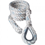 "Outdoor 2"" (Train Grip Strength) White Dacron Climbing Rope for experienced climber"