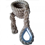 "Outdoor 1 1/2"" Manila (No Rust Thimble Attachment) Climbing Rope"