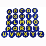 POLY ALPHABET SPOT MARKERS SET OF LETTERS A-Z