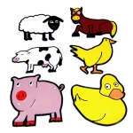 Poly Farm Animal Activity Set