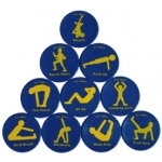 "Poly Fit Spot Set 9"" Diameter Set Of 10 Exercises"