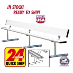 Portable Aluminum Bench With Backrest