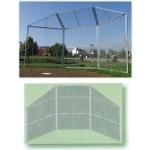 Portable Baseball Backstop With Wings And Hood