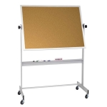 Portable Cork Board With Rolling Stand