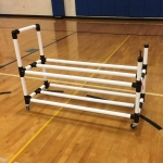 Power Dribble Ball Cart With Built In Ball Pump