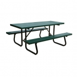 Pro-Bound 7'Powder Coated Aluminum Planks/Steel Frame Picnic Table